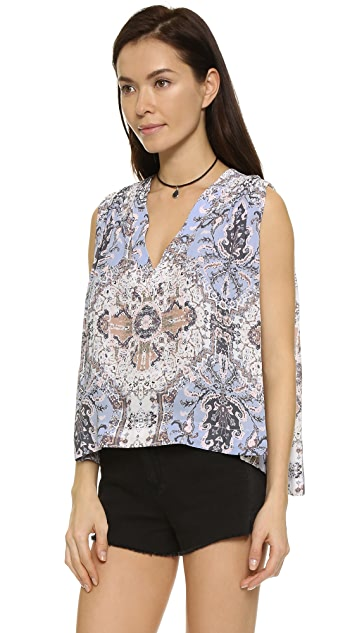 Free People Darcy Super V Print Tank