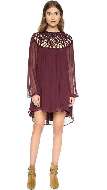 Free People Macrame Mini Dress