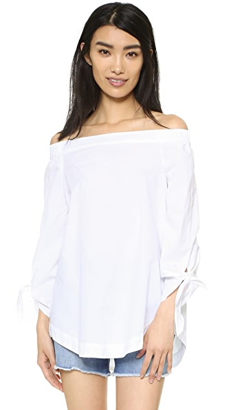 Free People Show Me Some Shoulder Blouse - White