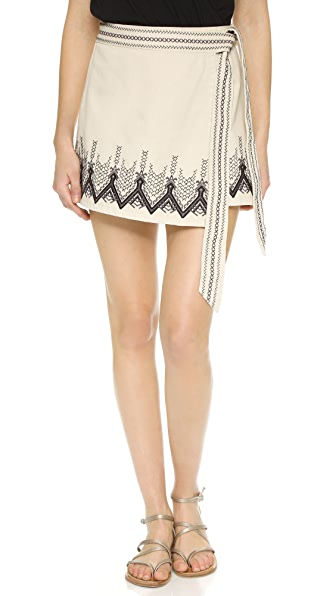 Free People Dream Away Denim Miniskirt