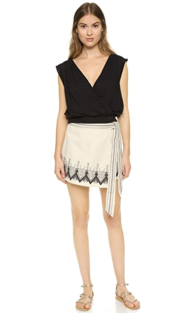 Free People Dream Away Denim Miniskirt