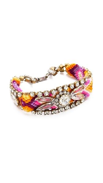 frieda&nellie Rhinestone Floral Paradise Bracelet
