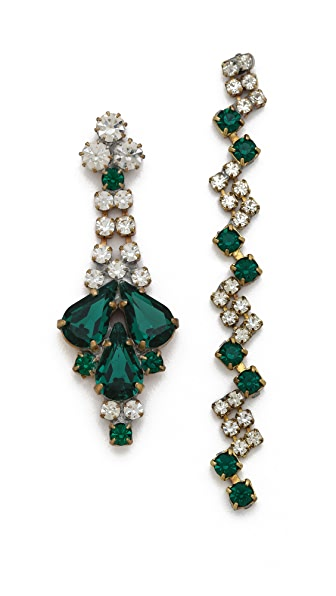 frieda&nellie Emerald Oz Earrings