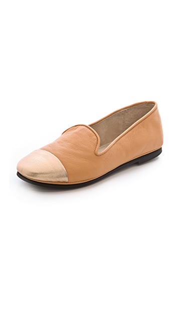 FRENCH SOLE fs/ny Metallic Cap Toe Loafers