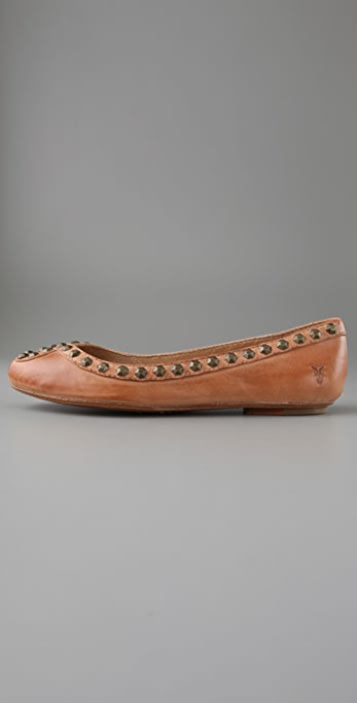 Frye Emma Flats with Honeycomb Studs
