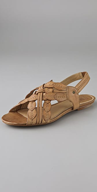 Frye Laurel Leaf Flat Sandals