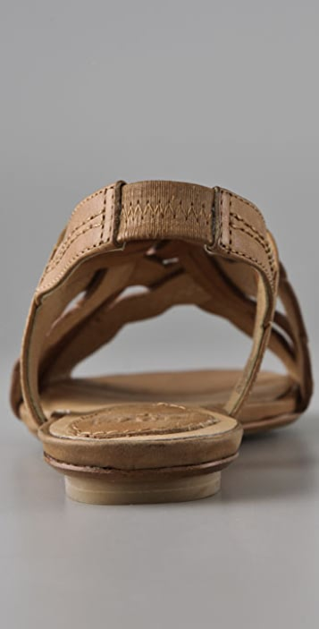 Frye Laurel Leaf Flat Sandals