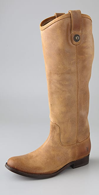 Frye Melissa Suede Button Boots