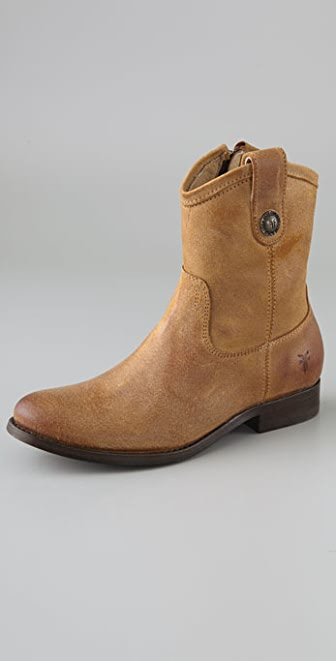 Frye Melissa Button Suede Short Boots