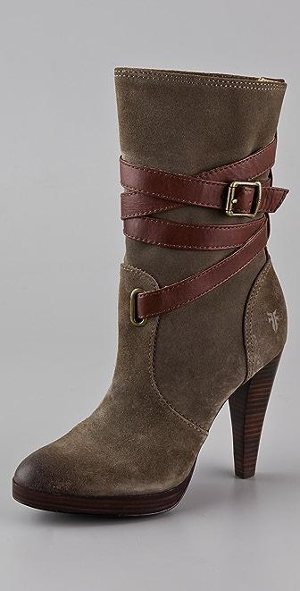 Frye Harlow Mid Heel Boots