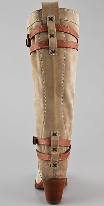 Frye Jane Suede Stappy Boots