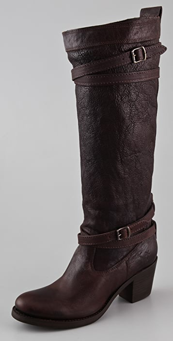 Frye Jane Strappy Heeled Boots