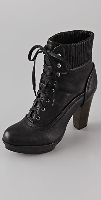 Frye Mimi Lace Up Booties