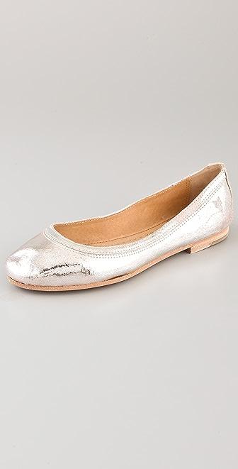 Frye Carson Metallic Ballet Flats