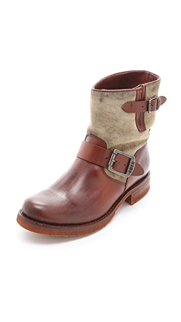 Frye Veronica Canvas Shortie Boots
