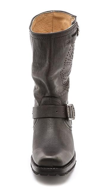 Frye Heath Skull Engineer Boots