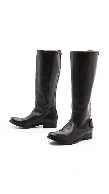 Frye Melissa Button Zip Boots