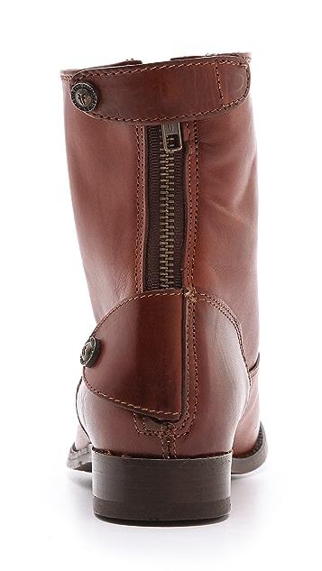 Frye Melissa Button Zip Booties
