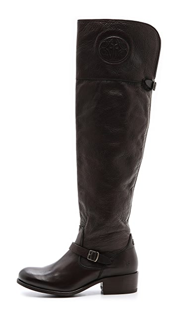 Frye Lynn Logo Over The Knee Boots
