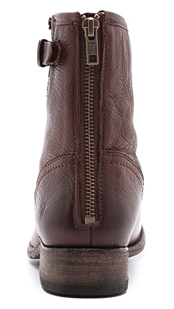 Frye Pippa Back Zip Short Booties