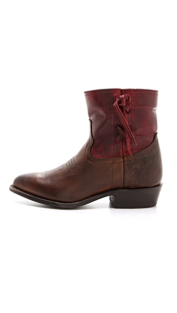 Frye Billy Cross Stitch Short Booties