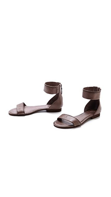 Frye Carson Ankle Zip Sandals