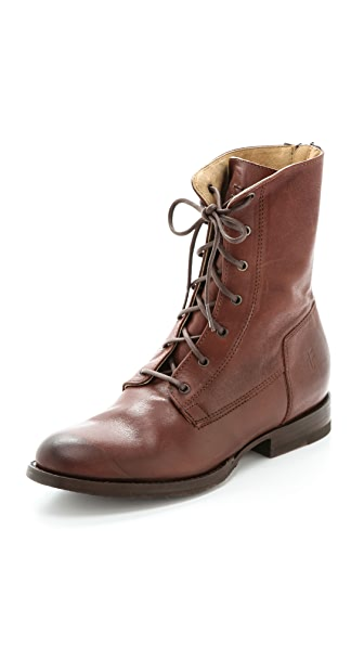 Frye Jamie Artisan Lace Up Booties