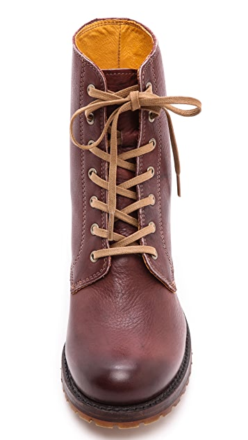 Frye Sabrina Lace Up Booties