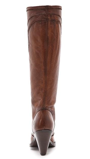 Frye Mustang Stitch Tall Boots