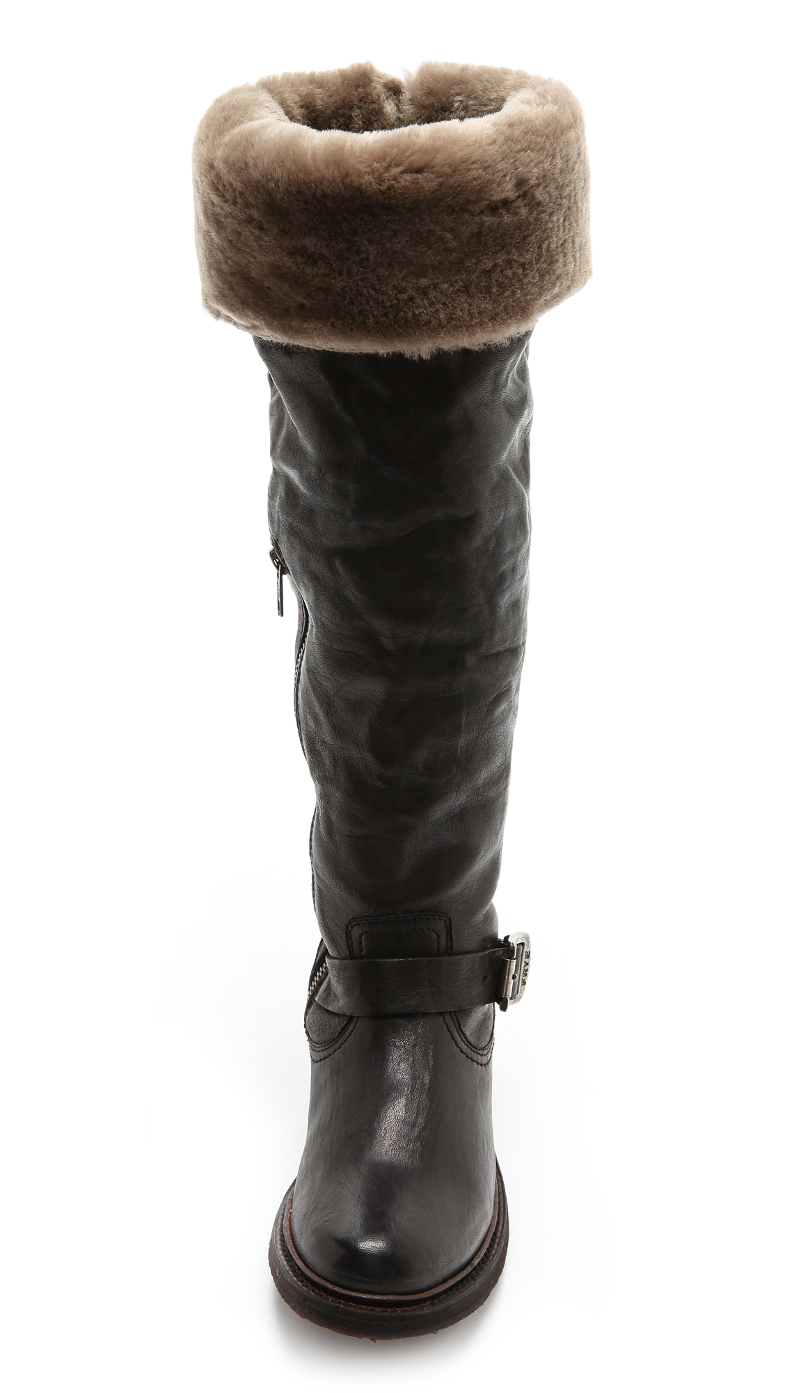 94cb460a61b Frye Valerie Shearling Over the Knee Boots