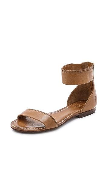 Frye Carson Ankle Zip Flat Sandals
