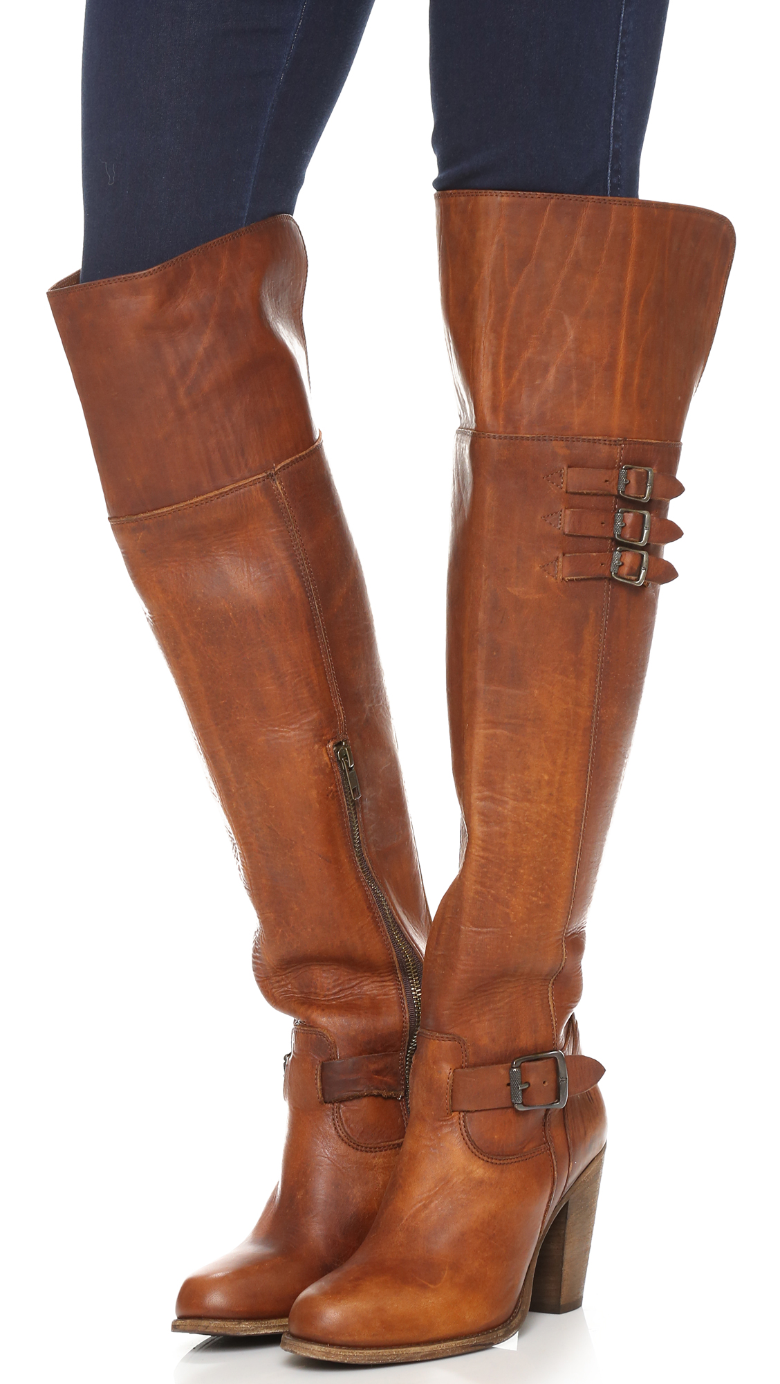 49cf4d2dda1 Frye Jenny Belted Over the Knee Boots