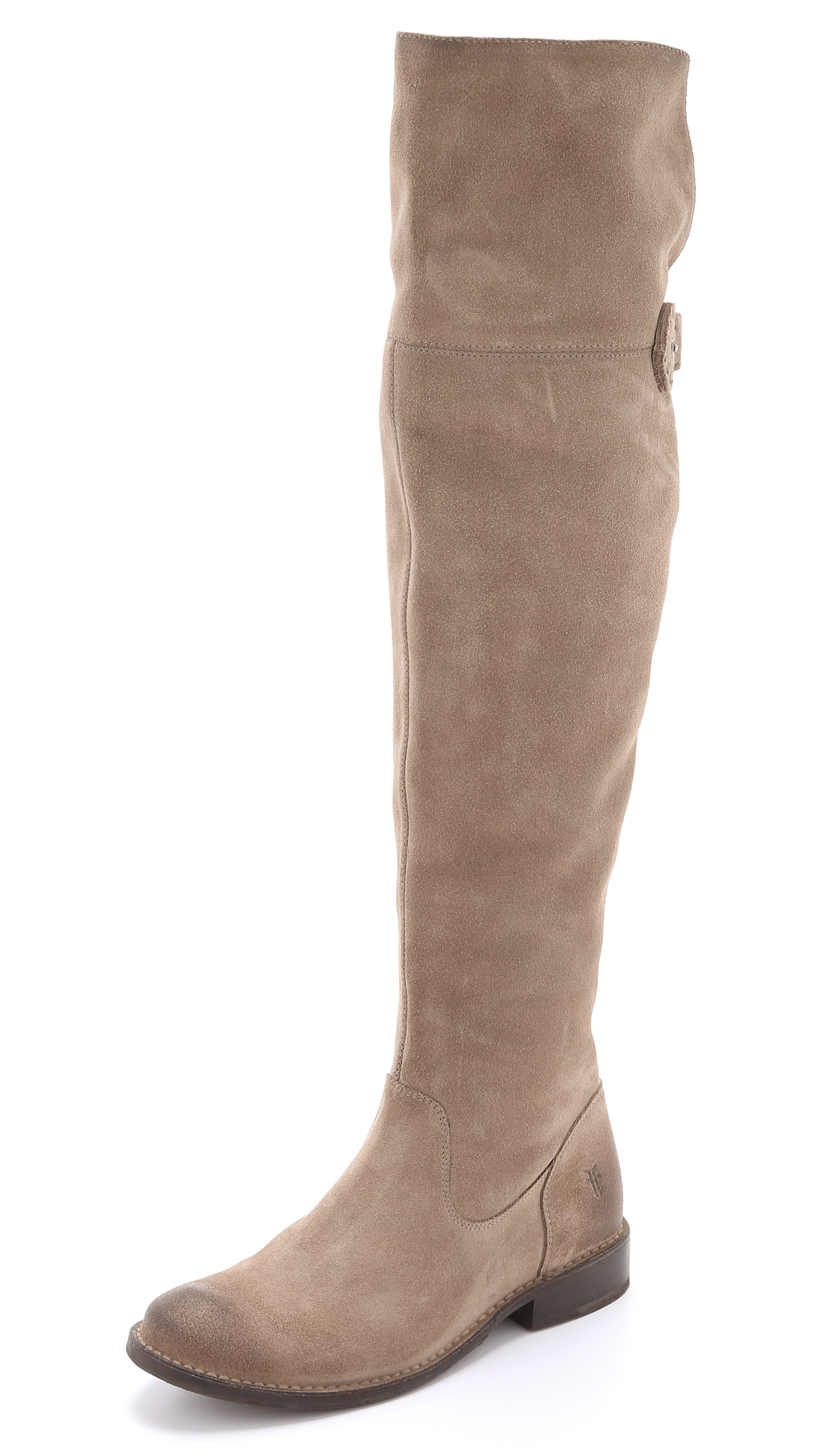 Frye Shirley Suede Over The Knee Boots - Ash