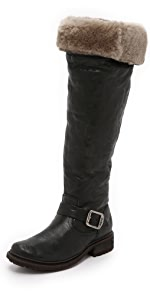 Valerie Shearling Over the Knee Boots                Frye