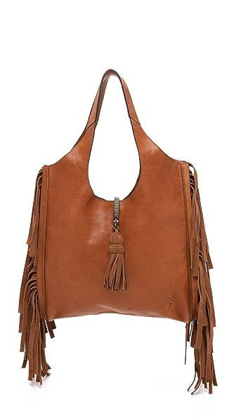 Frye Объемная сумка с короткими ручками Farrah с бахромой