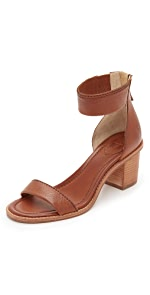 Brielle Back Zip City Sandals                Frye