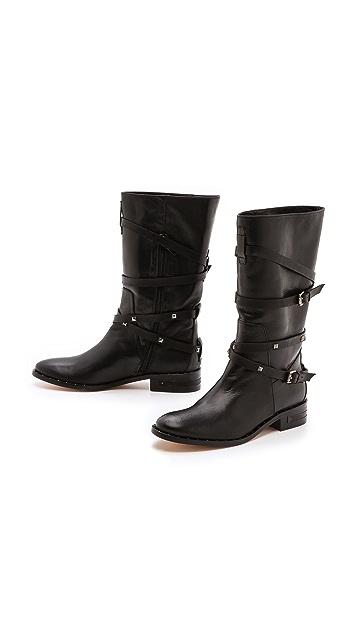 Freda Salvador Ride Studded Strap Boots