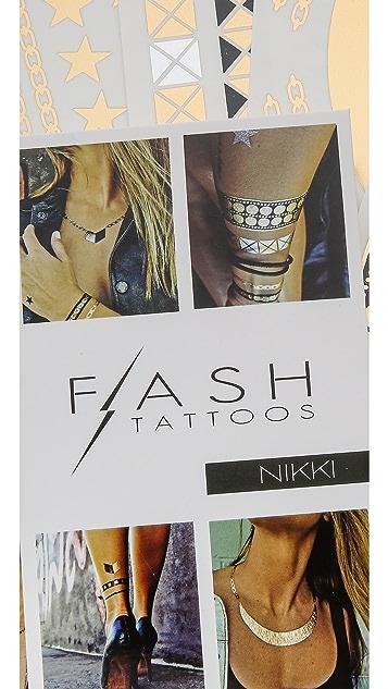 Flash Tattoos Nikki Tattoo Set