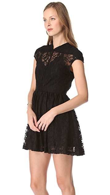 Funktional Victorian Lace Mini Dress