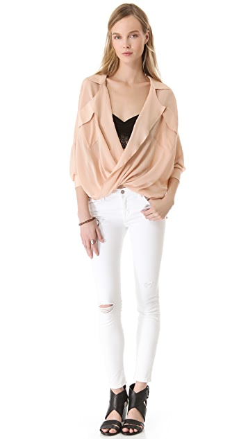 Funktional Software Fold Front Blouse