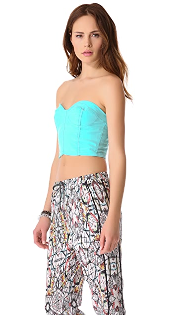 Funktional Achromatic Bustier Top
