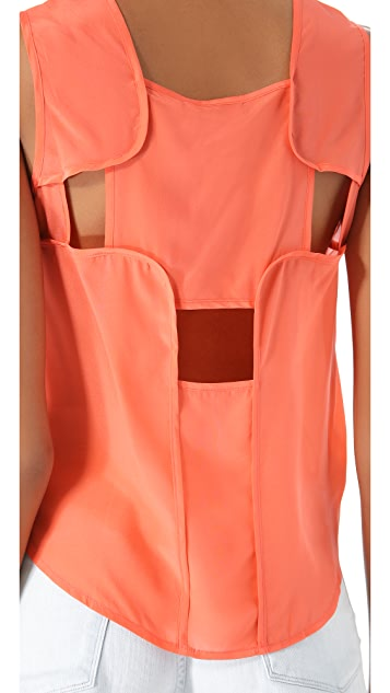 Funktional Achromatic Cutout Back Tank