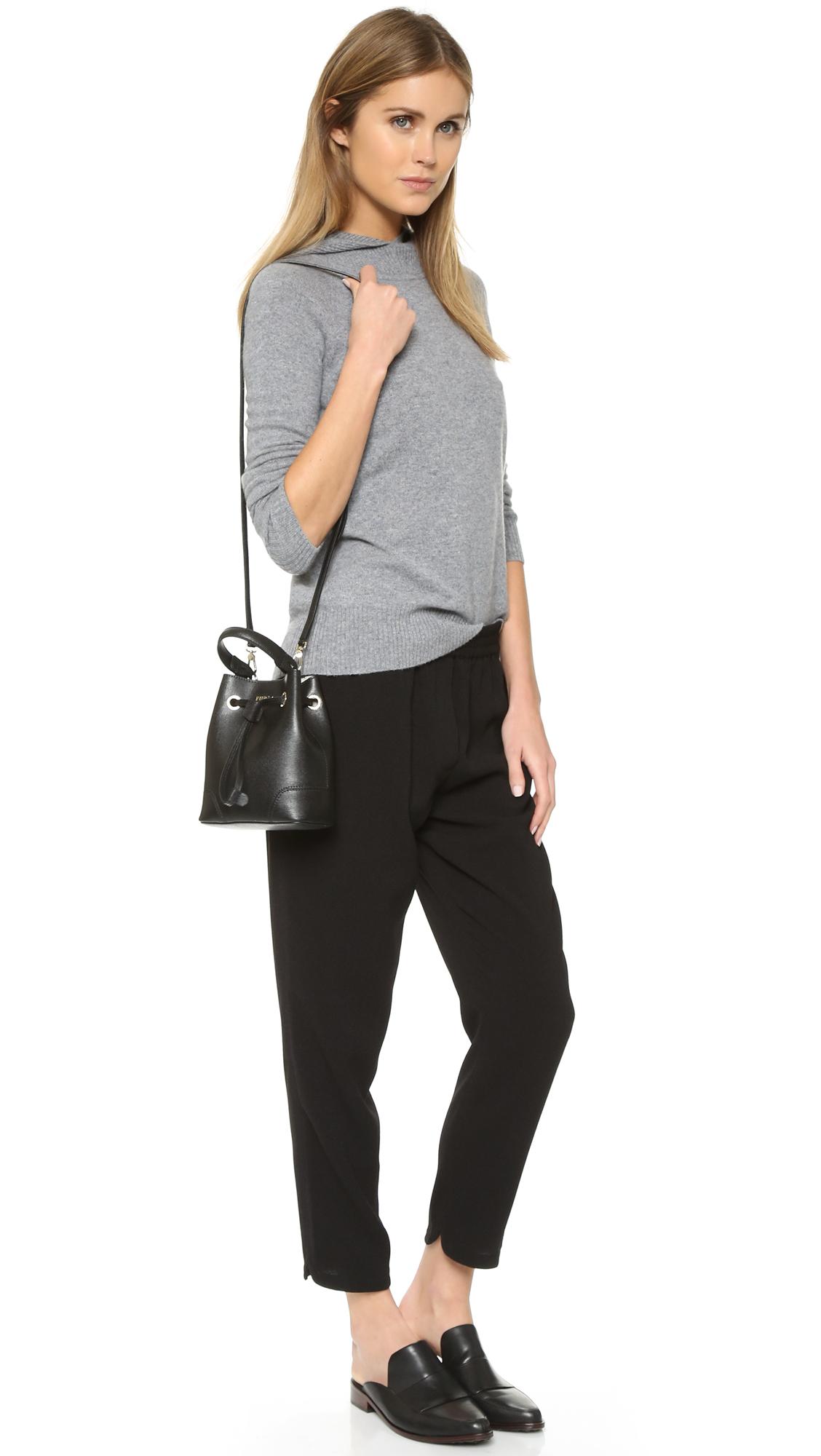 Stacy Bucket Bag M Onyx Furla Y1I1CHF2O