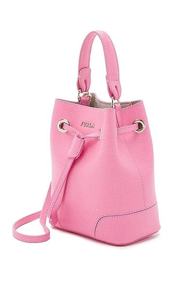 Furla Stacy Mini Drawstring Bucket Bag