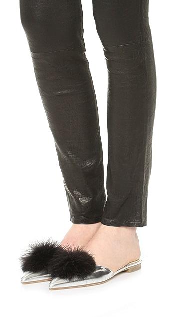 Frances Valentine Pauline Pointed Toe Flat Mules