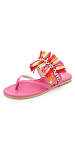 Elizabeth Raffia Flat Sandals                Frances Valentine