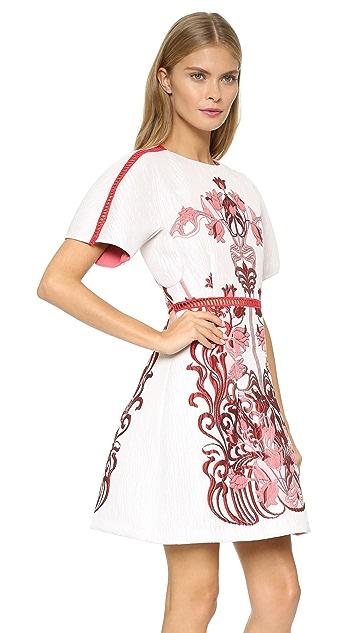 Giamba Jacquard Frame Dress