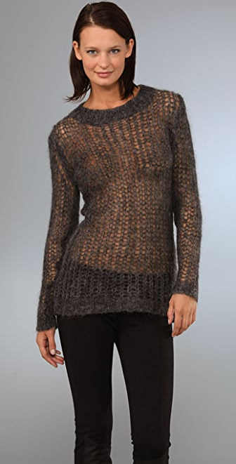 Graham & Spencer Long Sleeve Net Sweater