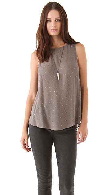 Graham & Spencer Vintage Crepe Top