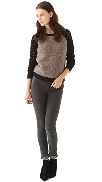 Graham & Spencer Boucle Colorblock Sweater